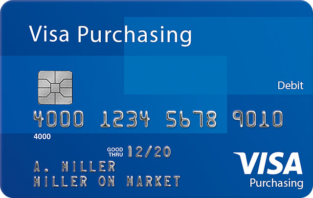 Visa Purchasing Debit Card